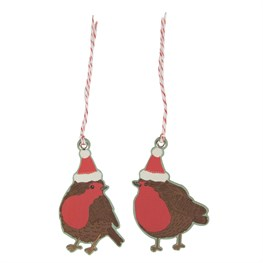 Set of 10 Christmas Robin Gift Tags