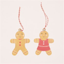 Set of 6 Roger & Dolly Gingerbread Man Gift Tags