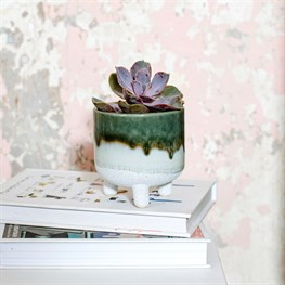 Mojave Glaze Green Planter