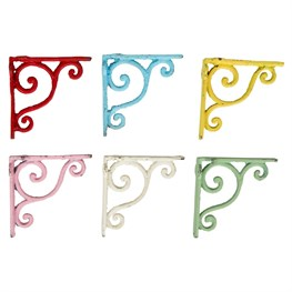 Vintage Style Colourful Shelf Bracket (options available)