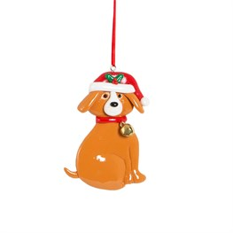 Clay Happy Puppy Hanging Decoration