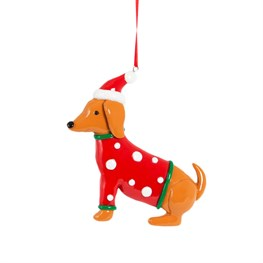 Clay Jumper Dachshund Hanging Decoration