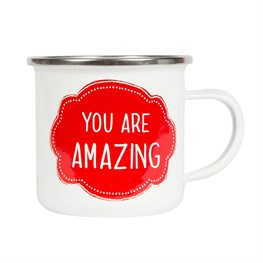 You Are Amazing Enamel Mug