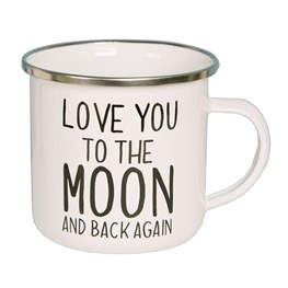 Love You to the Moon Enamel Mug