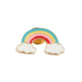 Rainbow with Clouds Pin Fashion Accessory