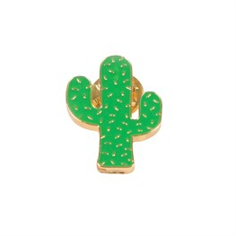 Green Cactus Pin Fashion Accessory