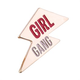 Girl Gang Lightning Bolt Pin Fashion Accessory