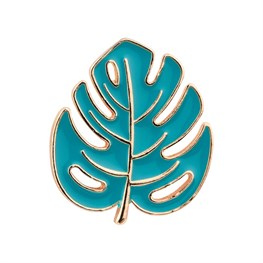 Cheese Plant Leaf Enamel Pin Fashion Accessory
