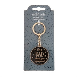 Dad's Superpower Keyring