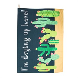 Colourful Cactus Tea Towel