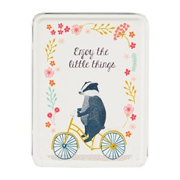 Enjoy the Little Things Badger on  Bike Tin