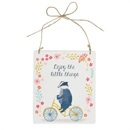 Enjoy the Little Things Badger on  Bike Plaque