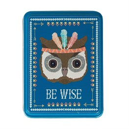 Be Wise Owl Animal Adventure Storage Tin