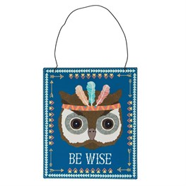 Be Wise Owl Animal Adventure Plaque