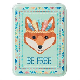 Be Free Fox Animal Adventure Storage Tin