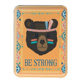 Be Strong Bear Animal Adventure Storage Tin