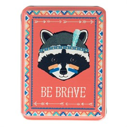 Be Brave Raccoon Animal Adventure Storage Tin