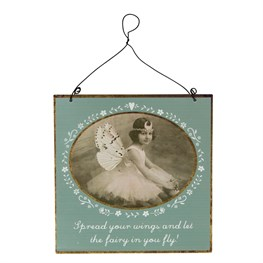 Spread Your Wings Vintage Fairies Plaque