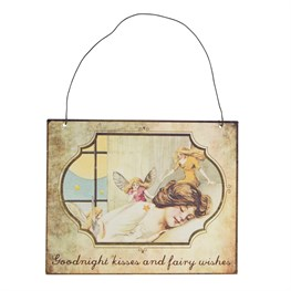 Vintage Fairy Goodnight Kisses Plaque