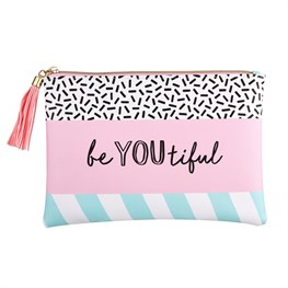 Memphis Modern Be You Beautiful Pouch