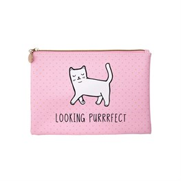 Cutie Cat  Looking Purrrfect Pouch