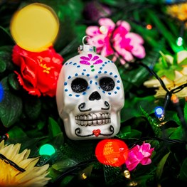 Day of The Dead Sugar Skull Shaped Bauble