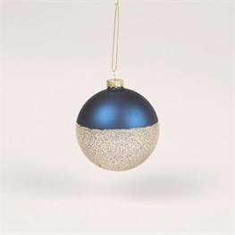 Blue & Speckled Metallic Bauble