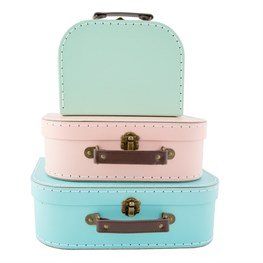 Set of 3 Pastel Retro Suitcases