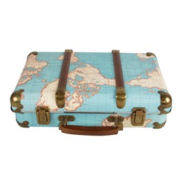 Around the World Vintage Map Suitcases