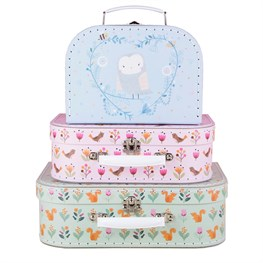 Woodland Friends Suitcases - Set of 3