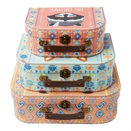 Set of 3 Animal Adventure Animal Suitcases
