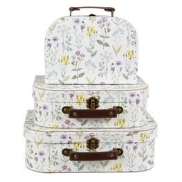 Set of 3 Wildflower Suitcases