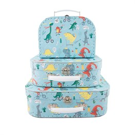 Set of 3 Dino Skate Park Suitcases