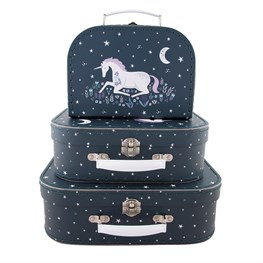 Set of 3 Starlight Unicorn Suitcases