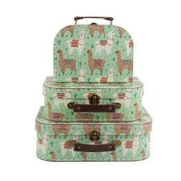 Set of 3 Lima Llama Suitcases