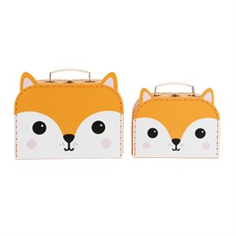 Hiro Fox Kawaii Friends Suitcases - Set of 2