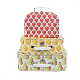 Set of 3 Happy Fruit & Veg Suitcases