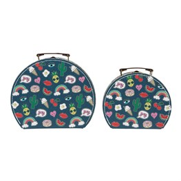 Set of 2 Patches & Pins Suitcases
