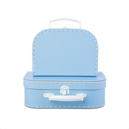 Set of 2 Pastel Blue Suitcases