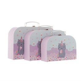 Luna Caticorn Suitcases - Set of 3