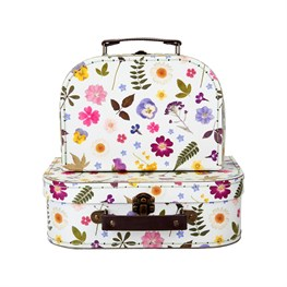 Pressed Flowers Suitcases  - Set of 2