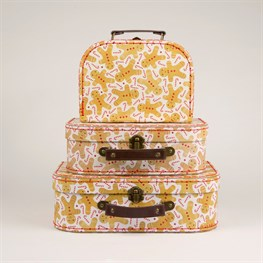 Set of 3 Gingerbread Man Suitcases