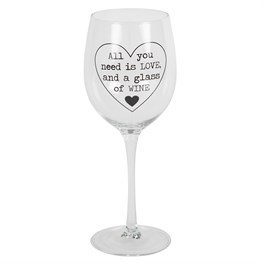 All You Need is Love Wine Glass