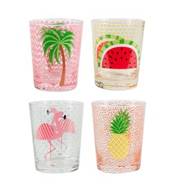 Tropical Summer Glass Tumbler  (options available)