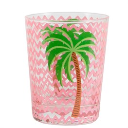 Glass Tumbler - Palm Tree