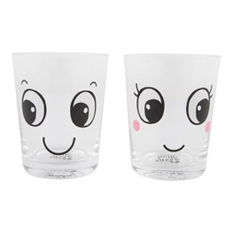 Fun Faces Glass Tumbler (Options Available)