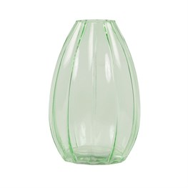 Tall Ribbed Botanical Style Vase