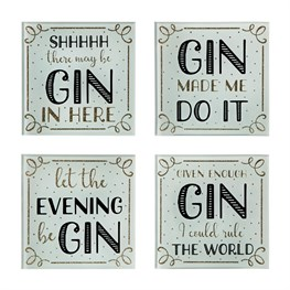Set of 4 Gin Time Coasters