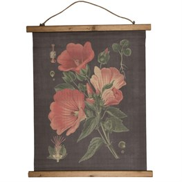 Red Botanical Illustration Wall Canvas