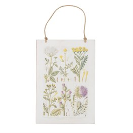 Wildflower Illustrations Hanging Plaque